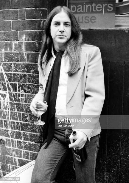 Phil May of The Pretty Things, portrait, The Ship, Wardour Street, London, 1975.