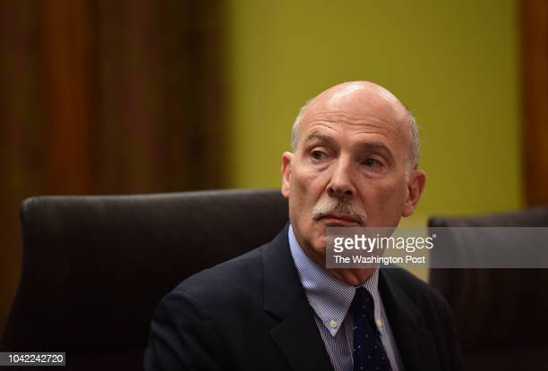 Phil Mendelson chairman of the DC Council opens a hearing in Washington DC September 17 on Initiative 77 Initiative 77 requires employers to...