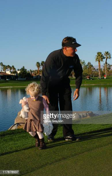 Phil Mickelson and daughter after the final round of the 45th Annual Bob Hope Chrysler Classic at PGA West Arnold Palmer Private Course in La Quinta...