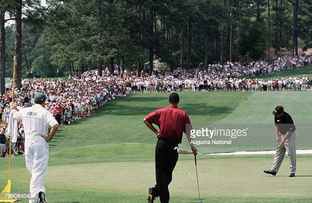 Phil Mickelson And Tiger Woods On The 2nd Hole During The 2001 Masters Tournament