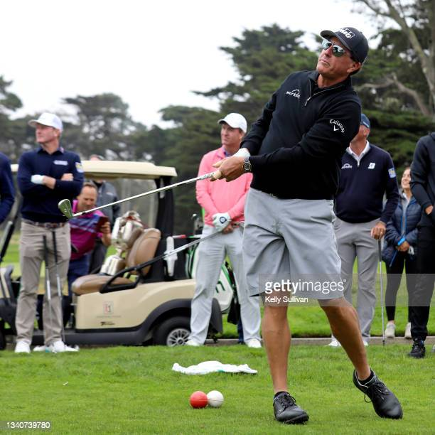 Phil Mickelson attends The Workday Charity Classic, hosted by Stephen and Ayesha Curry's Eat. Learn. Play. And Workday, at Franklin Elementary School...