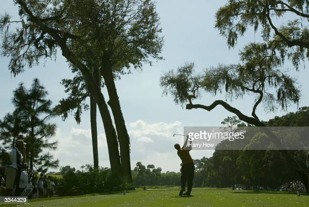 Phil Mickelson hits a shot during the final round of the Players Championship at the TPC Sawgrass, on March 28 in Ponte Vedra, Florida.