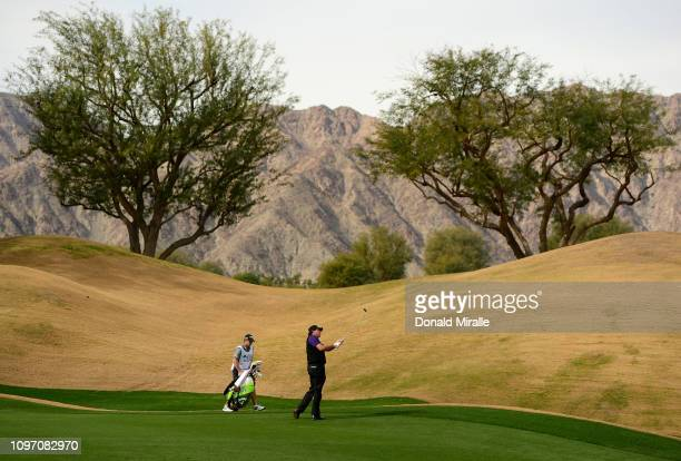 Phil Mickelson of the United States plays a shot during the second round of the Desert Classic at the Nicklaus Tournament Course on January 18, 2019...