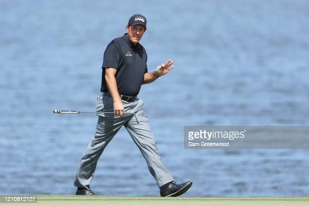 Phil Mickelson of the United States reacts on the sixth hole during the second round of the Arnold Palmer Invitational Presented by MasterCard at the...