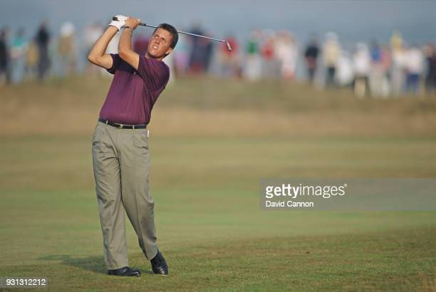 Phil Mickelson of the United States team in action during the Walker Cup at Portmarnock Golf Club on September 6 1991 in Dublin Ireland