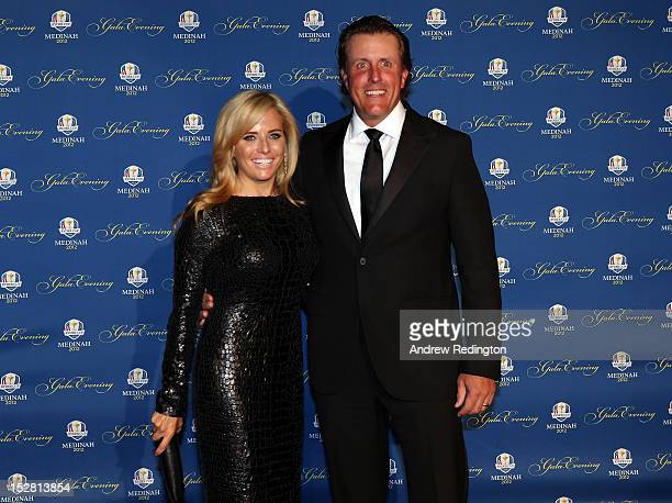 Phil Mickelson of the USA and his wife Amy Mickelson attend the 39th Ryder Cup Gala at Akoo Theatre at Rosemont on September 26 2012 in Rosemont...