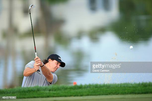 Phil Mickelson of the USA during the proam as a preview for The Honda Classic on the Champions Course at the PGA National Resort and Spa on February...