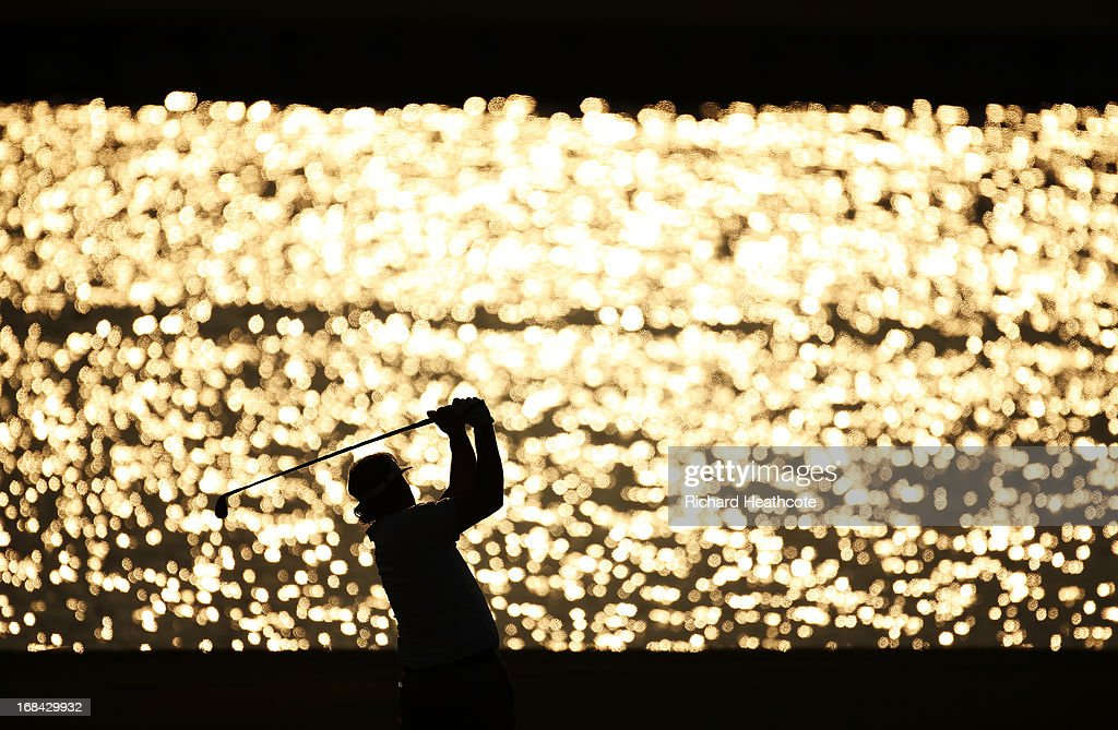 Phil Mickelson of the USA plays his second shot on the 18th hole during round one of THE PLAYERS Championship at THE PLAYERS Stadium course at TPC Sawgrass on May 9, 2013 in Ponte Vedra Beach, Florida.