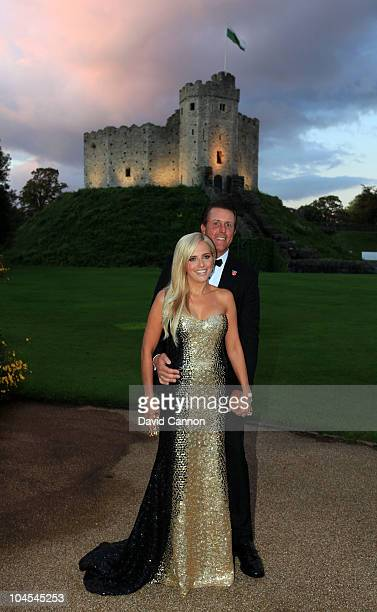 Phil Mickelson of the USA with his wife Amy Mickelson during the 2010 Ryder Cup Dinner at Cardiff Castle on September 29 2010 in Cardiff Wales