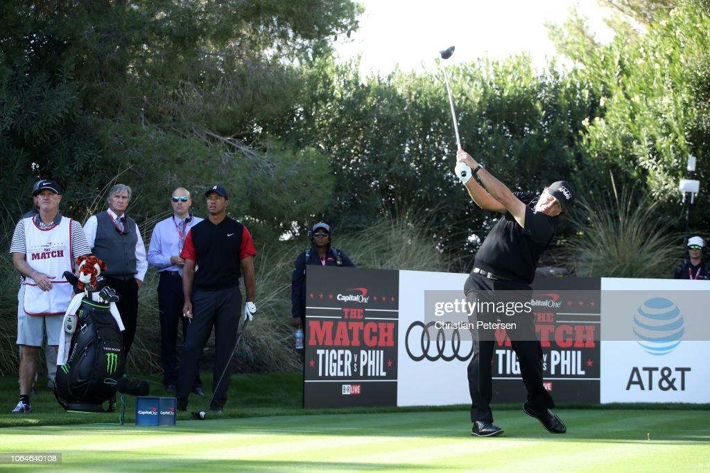 The Match: Tiger vs Phil : News Photo