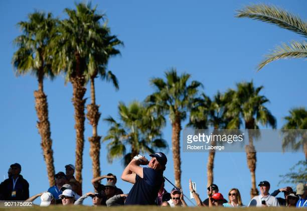 Phil Mickelson plays his shot from the 11th tee during the second round of the CareerBuilder Challenge at the Jack Nicklaus Tournament Course at PGA...