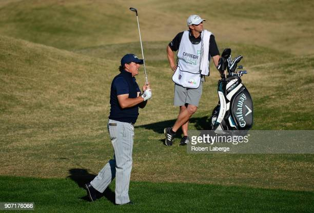Phil Mickelson plays his shot on the 11th hole during the second round of the CareerBuilder Challenge at the Jack Nicklaus Tournament Course at PGA...
