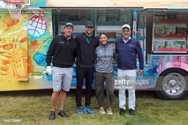 Phil Mickelson, Stephen Curry, Ayesha Curry, and CEO and Co-Founder of Workday Aneel Bhusri attend The Workday Charity Classic, hosted by Stephen and...