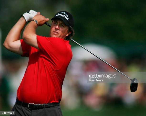 Phil Mickelson tees off on the 16th hole during the ProAm at the Arnold Palmer Invitational at Bay Hill in Orlando Florida on March 14 2007