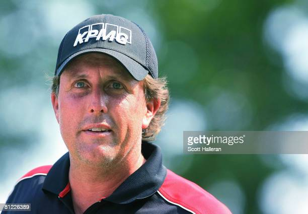 Phil Mickelson waits on the 17th hole during the third round of the Crown Plaza Invitational at the Colonial Country Club on May 24, 2008 in Ft....