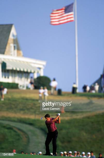 Phil Mickleson of the USA in action during the US Open at Shinnecock Hills in Southampton New York on June 18 1995