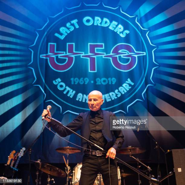 Phil Mogg of UFO performs onstage