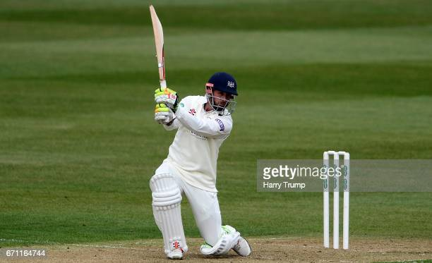 Phil Mustard of Gloucestershire bats during Day One of the Specsavers County Championship Division Two match between Gloucestershire and Durham at...