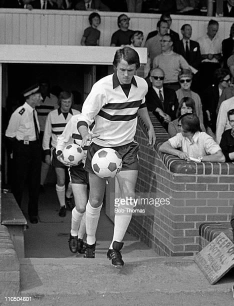Phil Neal of Northampton Town runs onto the pitch at the County Ground in Northampton circa August 1973