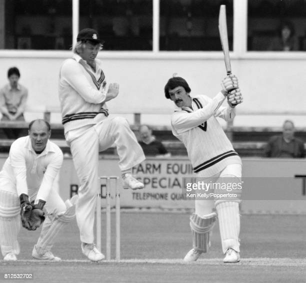 Phil Neale of Worcestershire drives a shot past Somerset captain Brian Rose during his 2nd innings score of 40 runs in the Schweppes County...