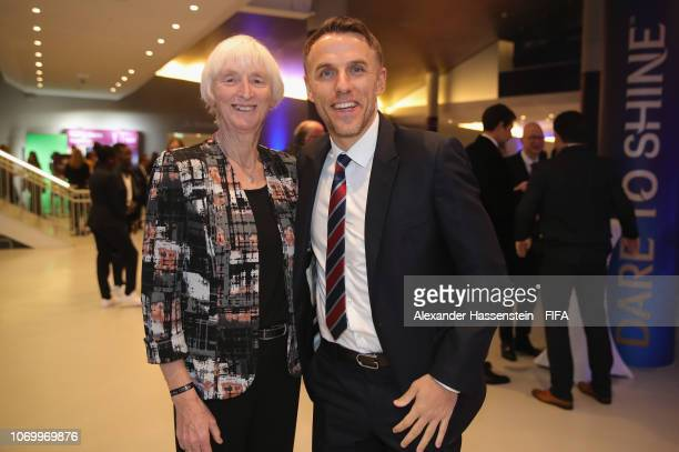 Phil Neville coach of England arrives for the FIFA Women's World Cup France 2019 Draw at La Seine Musicale on December 8 2018 in Paris France