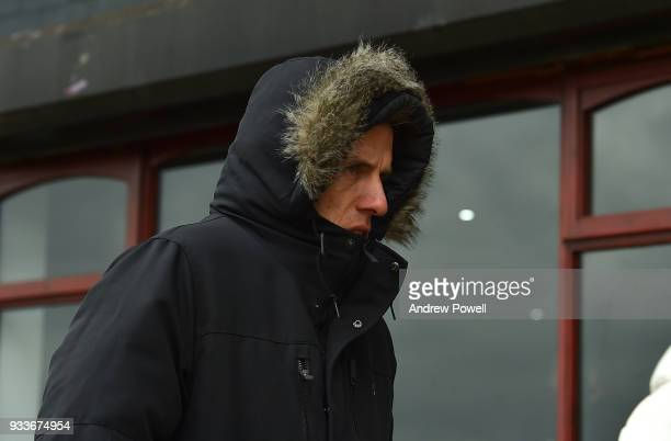 Phil Neville head coach of England Ladies during the SSE Women's FA Cup Quarter Final match between Liverpool Ladies and Chelsea Ladies at Prescot...