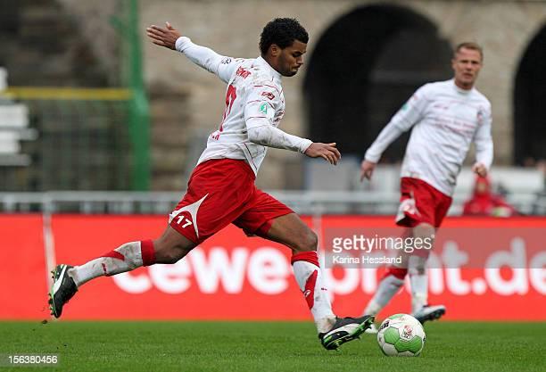 Phil OfosuAyeh of Erfurt during the Third League match between RW Erfurt and Chemnitzer FC at Steigerwald Stadion on November 10 2012 in Erfurt...
