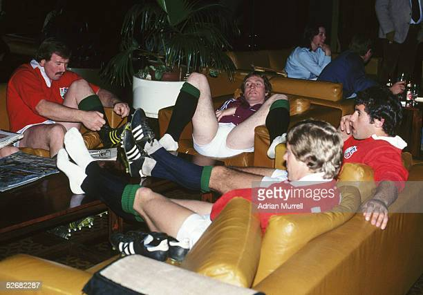 Phil Orr Steve Smith John Carleton and Andy Ward of the Lions pictured during the British and Irish Lions tour to South Africa in 1980