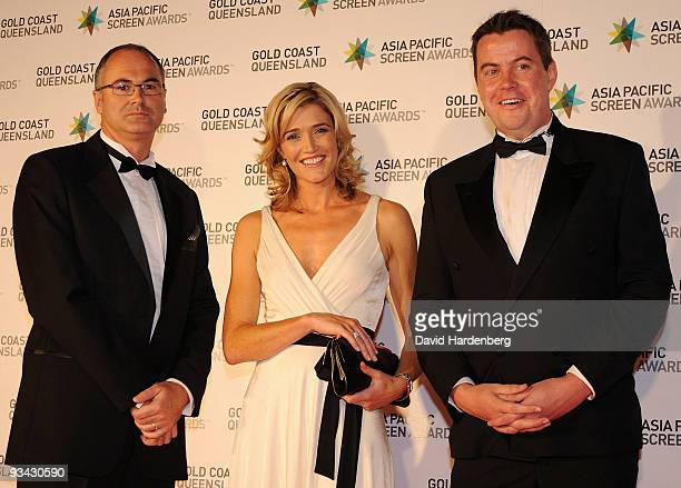 Phil O'Sullivan Anna Coren and Chris Dwyer arrive at the Asia Pacific Screen Awards 2009 at the Gold Coast Convention and Exhibition Centre on...