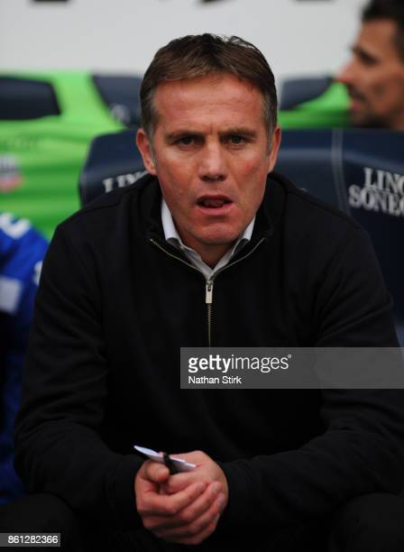 Phil Parkinson manager of Bolton looks on during the Sky Bet Championship match between Bolton Wanderers and Sheffield Wednesday at Macron Stadium on...
