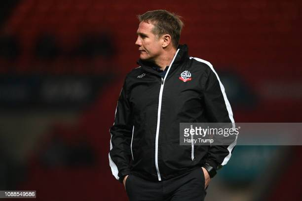 Phil Parkinson, Manager of Bolton Wanderers during the FA Cup Fourth Round match between Bristol City and Bolton Wanderers at Ashton Gate on January...