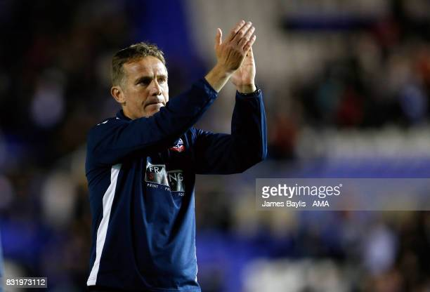 Phil Parkinson manager of Bolton Wanderers during the Sky Bet Championship match between Birmingham City and Bolton Wanderers at St Andrews on August...