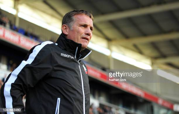Phil Parkinson manager of Bolton Wanderers looks on during the Sky Bet Championship match between Bolton Wanderers and Derby County at Macron Stadium...