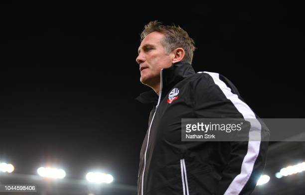 Phil Parkinson manager of Bolton Wanderers looks on during the Sky Bet Championship match between Stoke City and Bolton Wanderers at Bet365 Stadium...