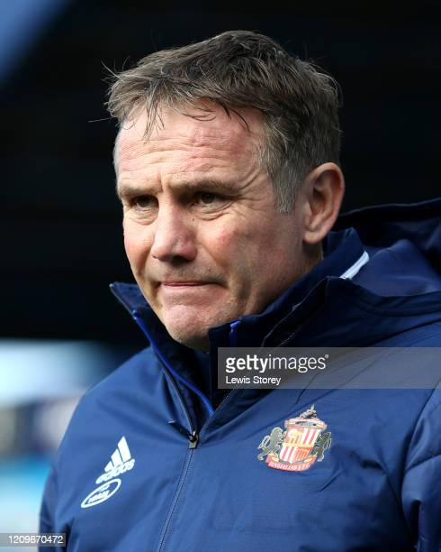 Phil Parkinson, manager of Sunderland looks on during the Sky Bet League One match between Coventry City and Sunderland at St Andrews on March 01,...