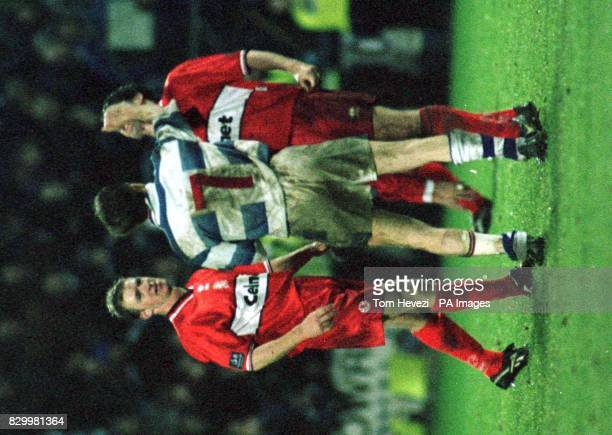 Phil Parkinson pushes Middlesbrough's Andy Townsend in an incident during tonight's Coca Cola Cup quarterfinal tie against Reading at Elm Park Final...