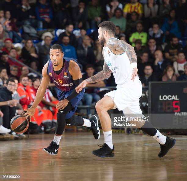 Phil Pressey #8 of FC Barcelona Lassa in action during the 2017/2018 Turkish Airlines EuroLeague Regular Season game between FC Barcelona Lassa and...