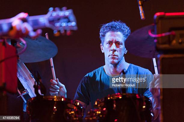 Phil Puleo of Swans performs on stage at Glasgow Art School on May 23, 2015 in Glasgow, United Kingdom