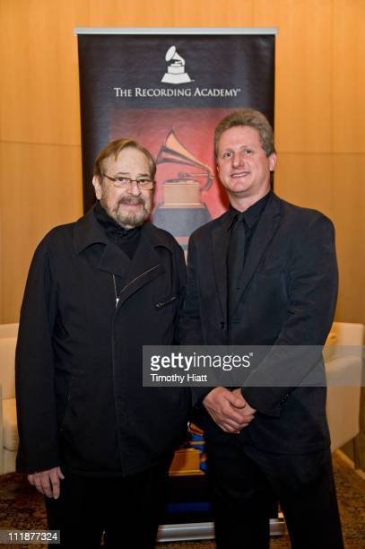 Phil Ramone and Mark Brunner attend GRAMMY SoundTables Behind the Glass with Phil Ramone at Shure Inc on April 7 2011 in Niles Illinois