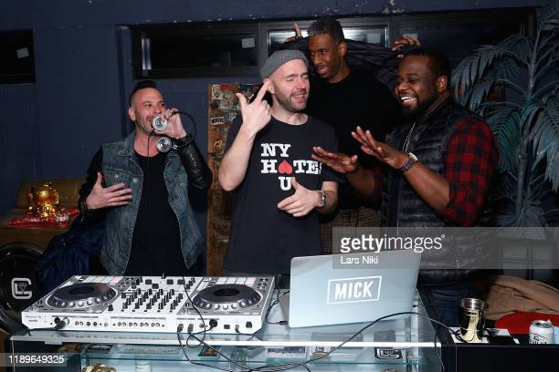 Phil Reese DJ Mick and ItsParle attend the private opening of the Good Luck Dry Cleaners Bowery location at 3 East 3rd on December 19 2019 in New...
