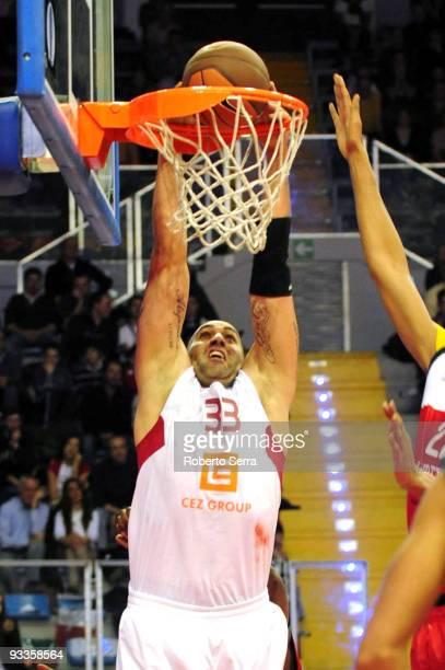Phil Ricci of CEZ Nymburk in action during the Eurocup Basketball Regular Season 20092010 Game Day 1 between Lauretana Biella vs CEZ Basketball...