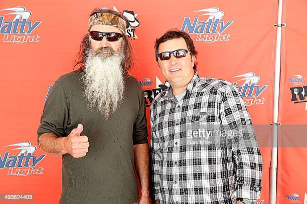 Phil Robertson and Alan Robertson of Duck Dynasty appear during RedFest at the Austin360 Amphitheater on May 25 2014 in Austin Texas
