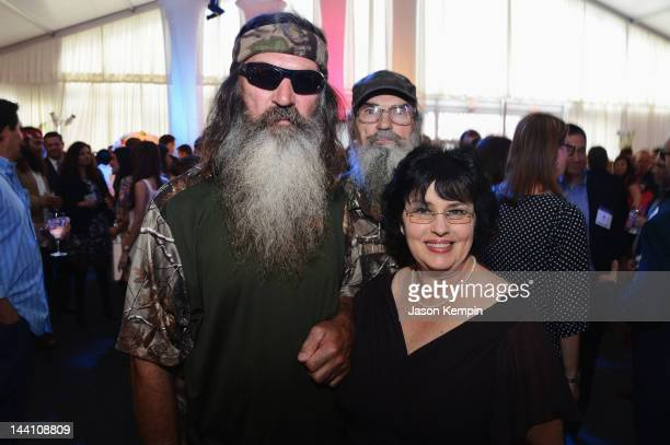 Phil Robertson and Miss Kay Robertson attend AE Networks 2012 Upfront at Lincoln Center on May 9 2012 in New York City