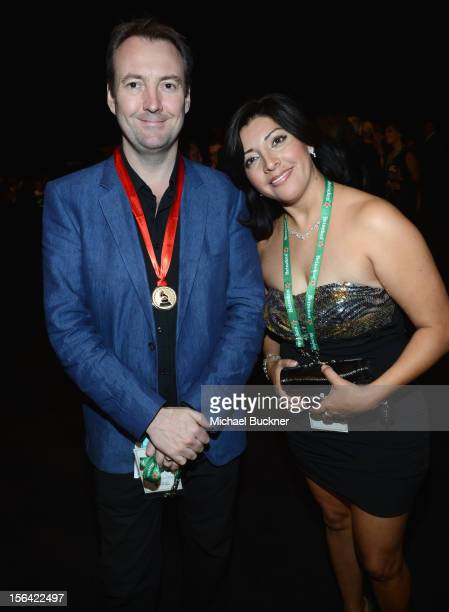 Phil Rollins and Veronica Bombela during the 2012 Person of the Year honoring Caetano Veloso at the MGM Grand Garden Arena on November 14 2012 in Las...