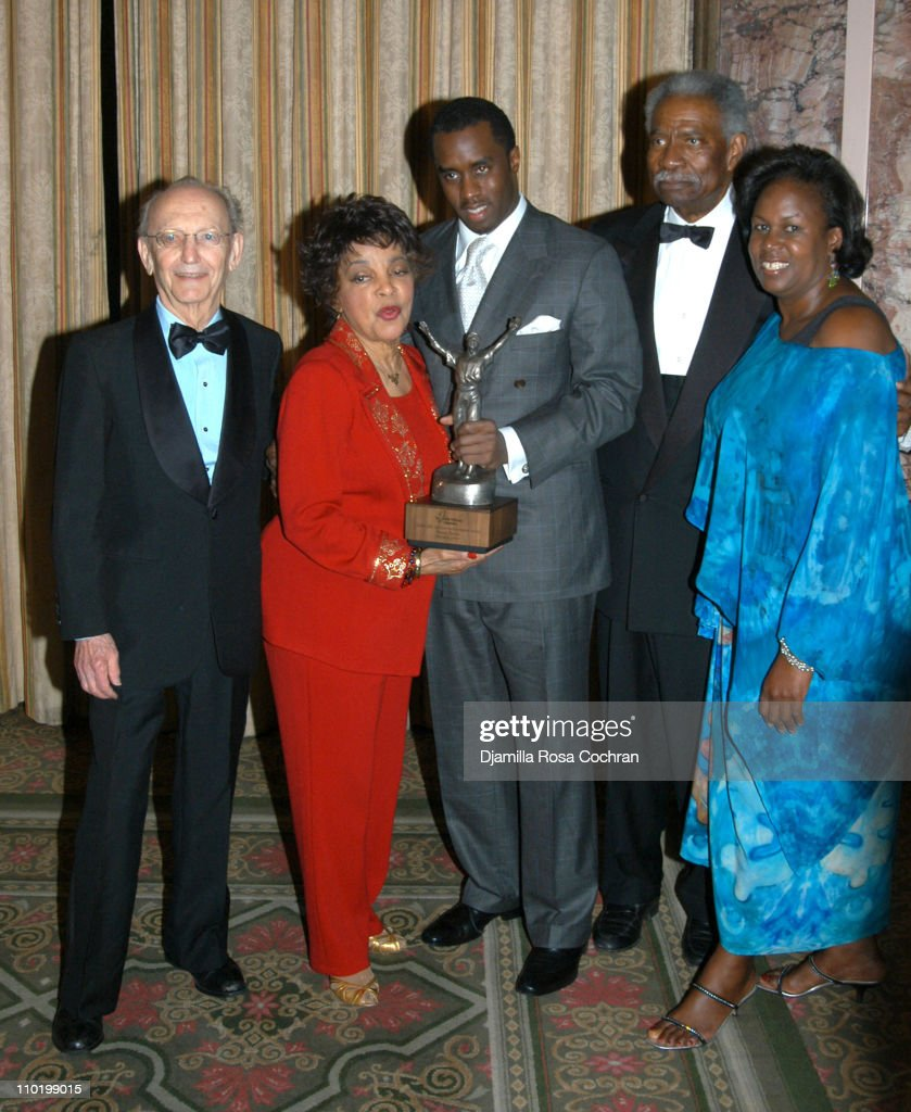 Phil Rose, Ruby Dee, Sean 'P. Diddy' Combs, Ossie Davis and Sharon Robinson