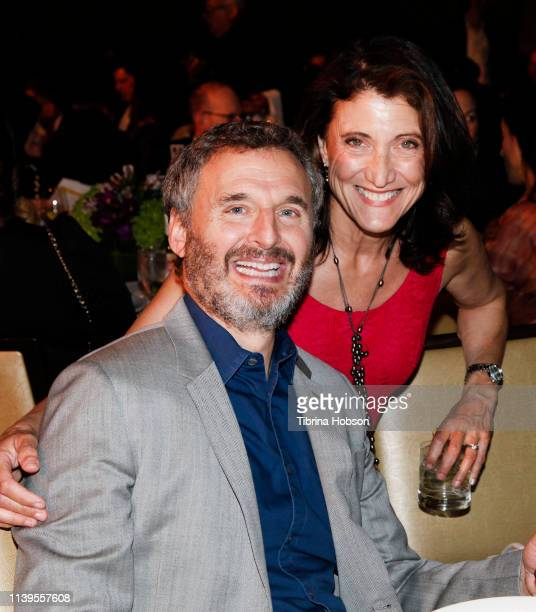 Phil Rosenthal and Amy Aquino attend Homeboy Industries 2019 Lo Máximo Awards Dinner at JW Marriott Los Angeles at L.A. LIVE on March 30, 2019 in Los...