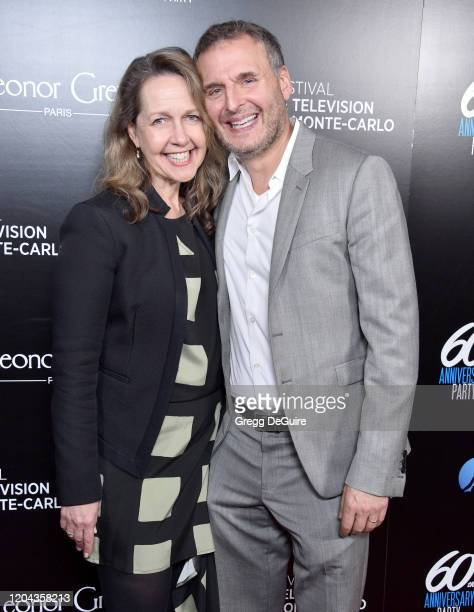 Phil Rosenthal and Monica Horan attend the 60th Anniversary Party For The MonteCarlo TV Festival at Sunset Tower Hotel on February 05 2020 in West...