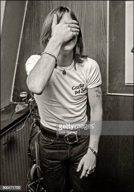Phil Rudd of AC/DC at a WEA Records press event London 1976