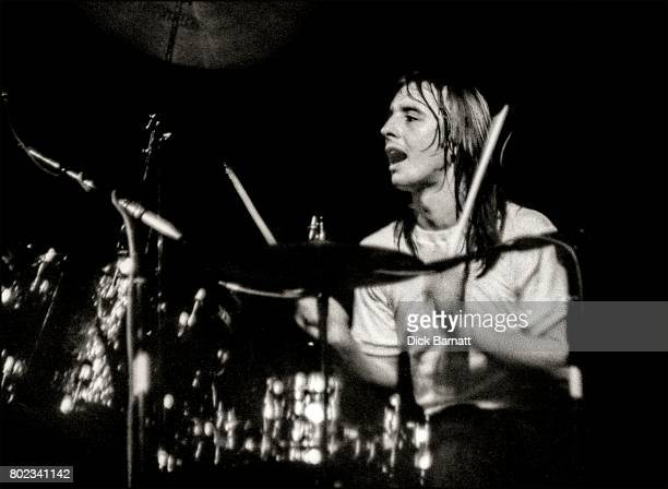 Phil Rudd of AC/DC performing on stage Lyceum Theatre London United Kingdom on July 7 1976 from the Lock Up Your Daughters Tour