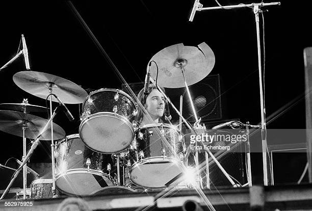 Phil Rudd of AC/DC performs on stage Reading Festival Reading  United Kingdom 29th August 1976